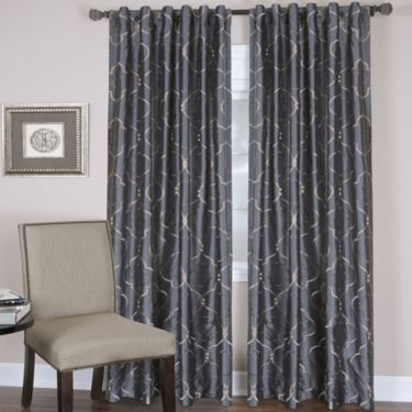 Gia rod pocket back tab curtain panel ivory - Jcpenney bathroom window curtains ...