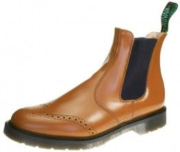 Solovair 909-PC Peacan Brogue Dealer Pecan Slip On Chelsea, Ankle Boots Mens Leather  - £84.99