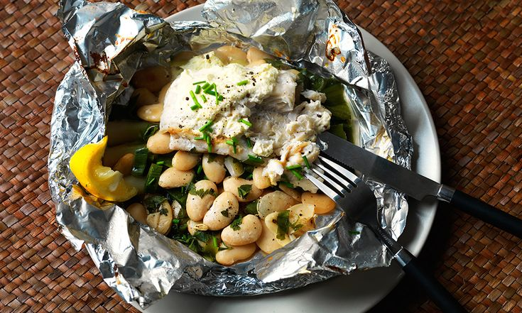 This steamed fish dish is a healthy option for a quick dinner.