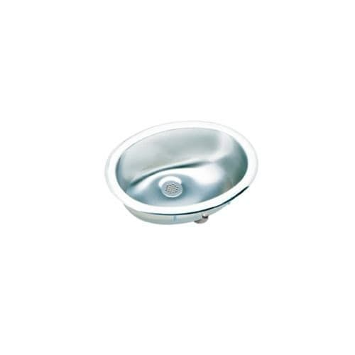 Elkay LLVR1310 Asana Lustertone Stainless Steel (Silver) 12-1/2 Single Basin Top Mount Bathroom Sink