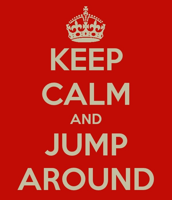"Jump Around at Camp Randall... I usually hate these ""Keep Calm"" things, but I couldn't resist a Sconnie one!"