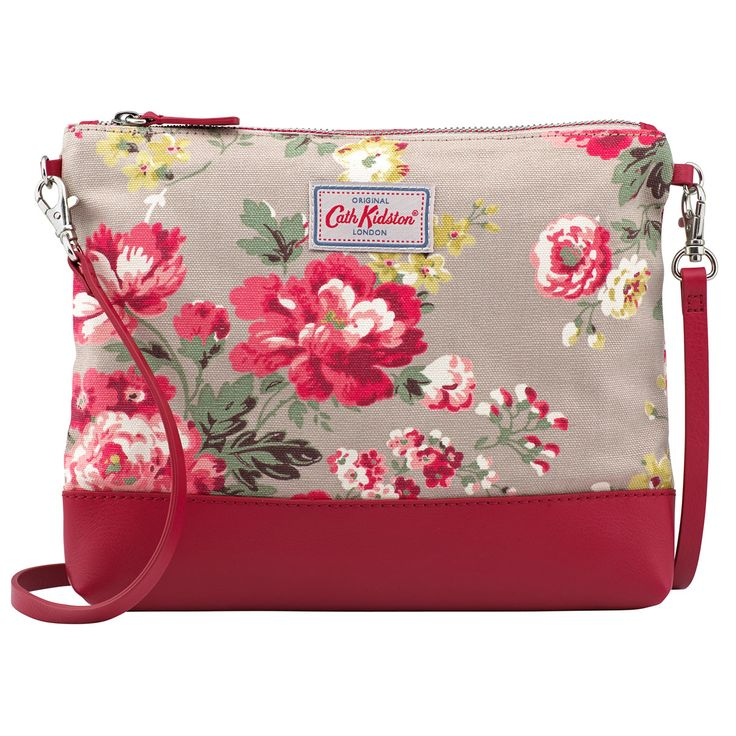 Winter Rose Canvas & Leather Cross Body Bag | Cath Kidston |