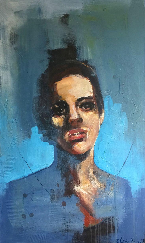 #figurative #portrait #acrylic by frodelauvsnes.com
