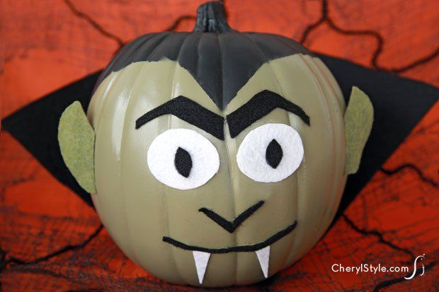 No-carve DIY monster pumpkins for Halloween — CherylStyle