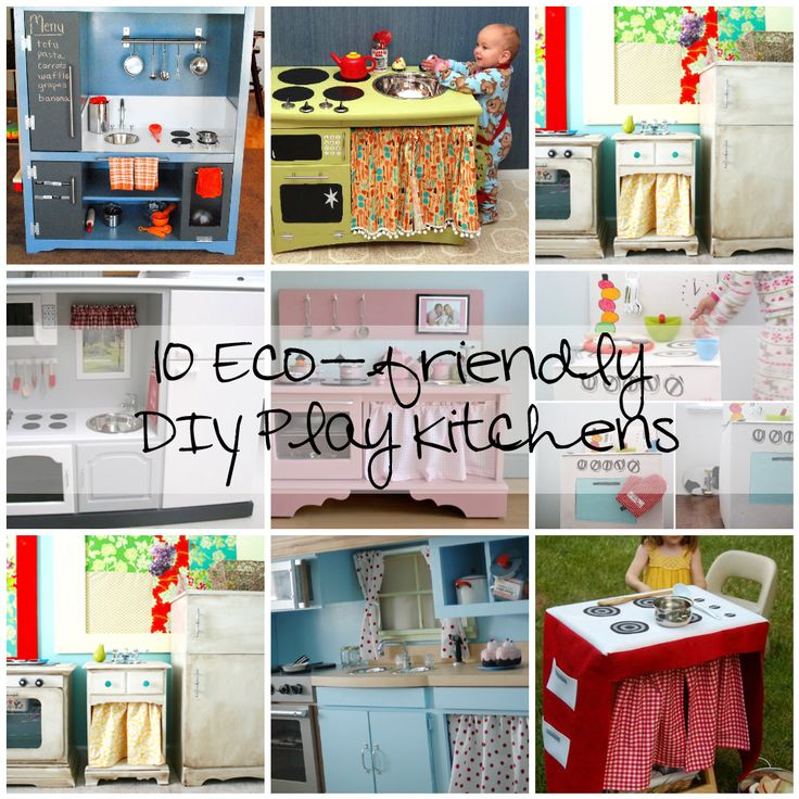 DIY Play Kitchens that will make little girls and boys super excited #kitchen #kids