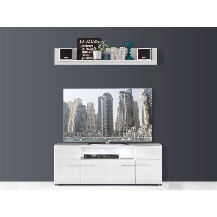 Die besten 25+ Lowboard hochglanz weiß Ideen auf Pinterest Tv - wohnzimmer vitrine weis hochglanz