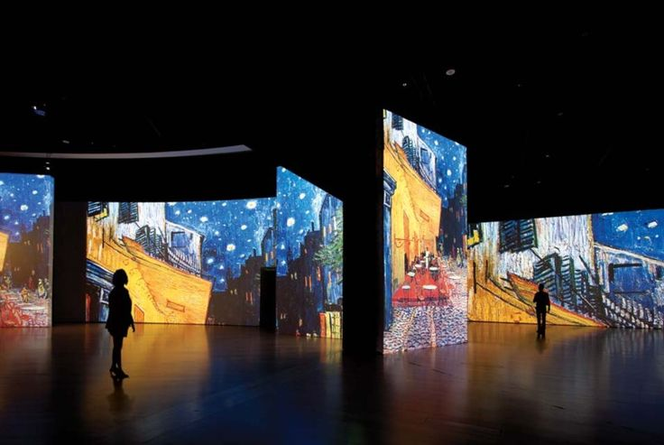 """""""Van Gogh Alive"""" makes use of huge projection screens to display some of Van Gogh's best known works in an immersive multimedia show."""