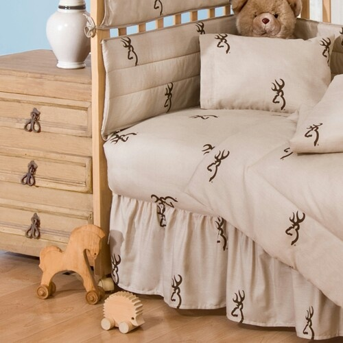 Love this for a rustic/country baby nursery  http://www.home-decorating-co.com/browning-baby-tan-buckmark-sheetset-07172150014brn.html