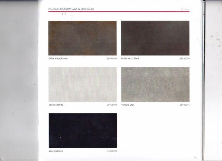 TARKETT  STARFLOOR CLICK 50  DESIGN E TILES CM 30X60