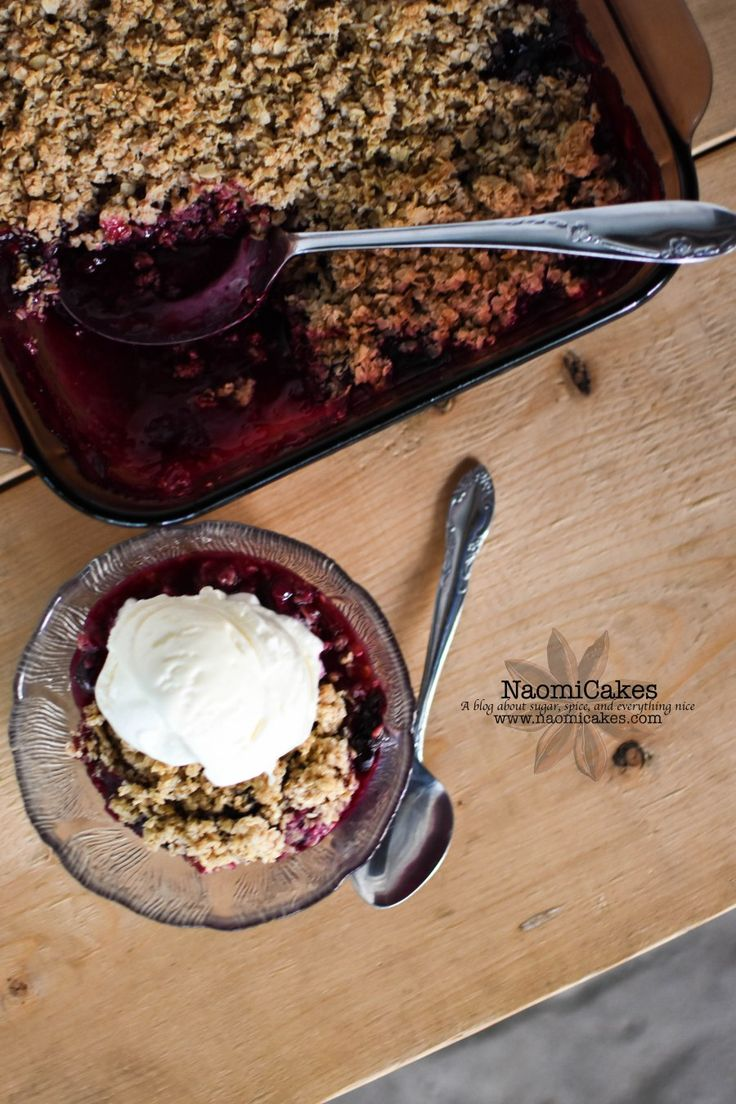 Blueberry Rhubarb Crisp [Recipe]