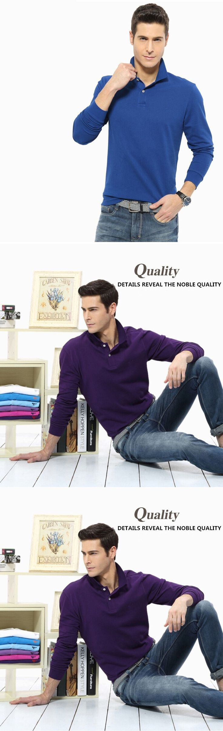 5 Colors Casual Polo Shirt Men Fashion Design Long-Sleeve Men's Polos New Arrival Brand Polo Shirts Man Hot-sale Slim Polos 2017