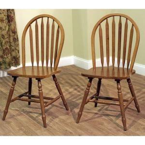 TMS Arrowback Chair (Set of 2), Oak