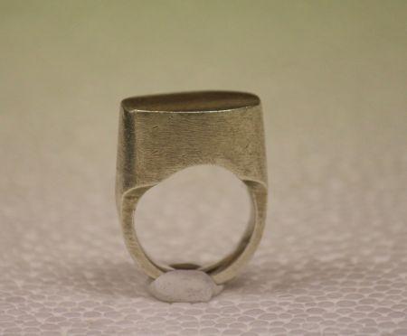 gümüş iri oval yüzük - silver ring