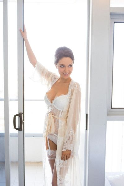 Bridal Lingerie  Bridal Robes Suzanne Robe Milque Photography