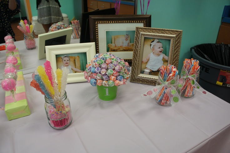 1st Birthday Candy Buffet Birthday Party Ideas Pinterest