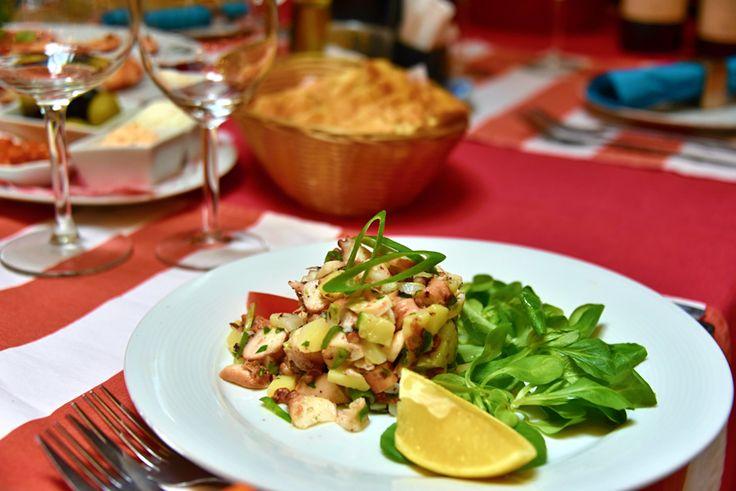 Chobotnicový salát /  Octopus salad
