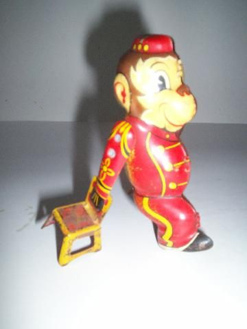 icollect247.com Online Vintage Antiques and Collectables - Tumbling Monkey, Marx- 40s-50s Toys-Wind ups