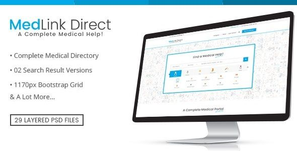 Doctor Directory - PSD Template (Business) - http://wpskull.com/doctor-directory-psd-template-business/wordpress-offers