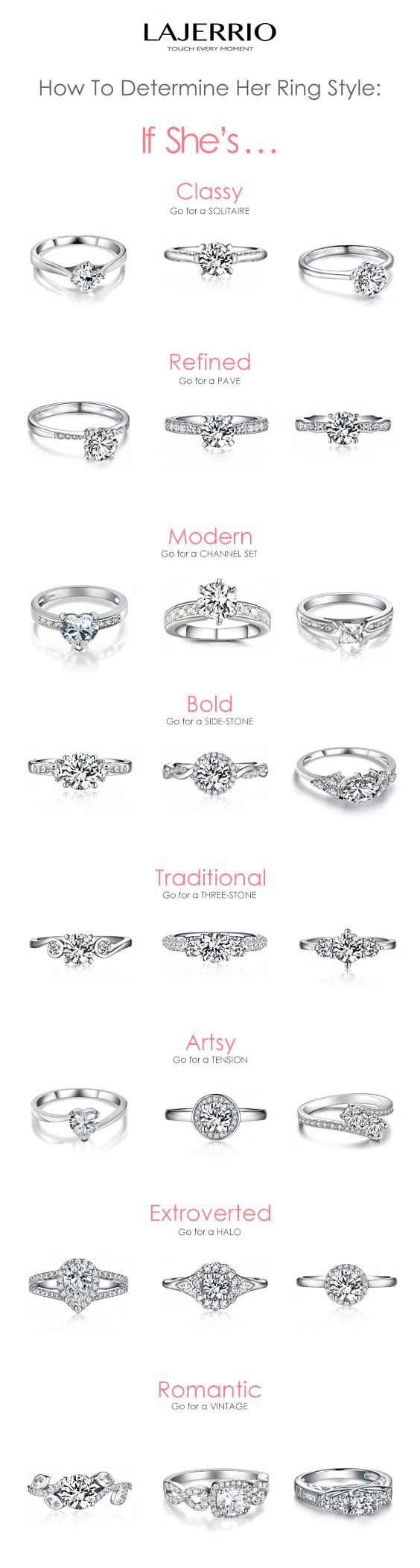 Lajerrio #rings for engagement / wedding / cocktail bridal ring sets