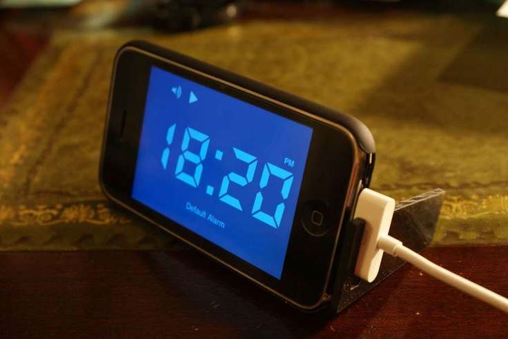 How to make an easy iphone alarm clock stand