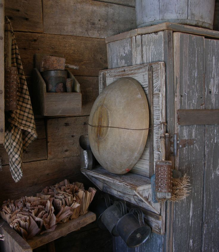 Buttermilk paint. Old wood bowl rack at Sweet Liberty Homestead