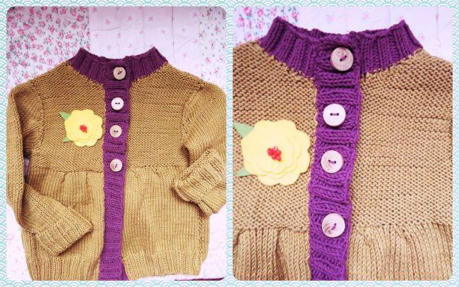 tricot olive + violet