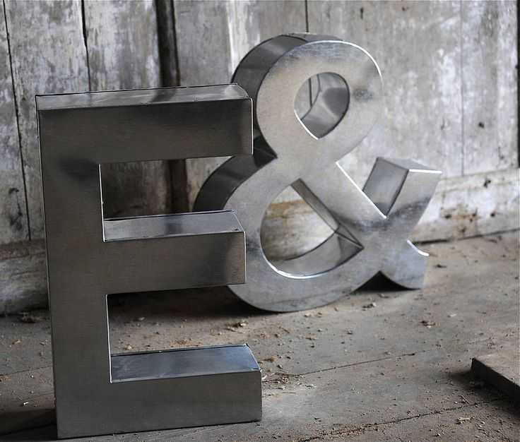 Large Metal Alphabet Letters Stunning 100 Best Wedding  Oversized Letters Images On Pinterest Design Decoration
