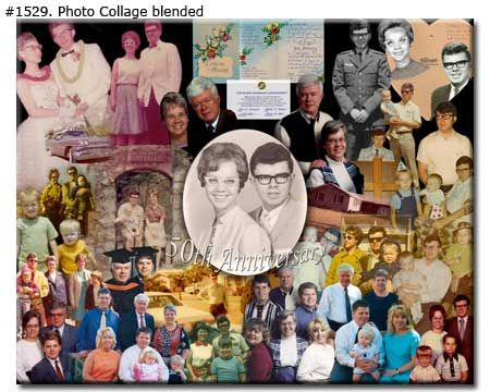 Marvelous Anniversary Collage Design Blended, For Wife, Husband, Parents