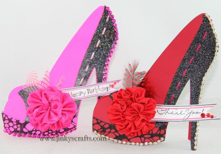 High Heel Shoe 3D Card
