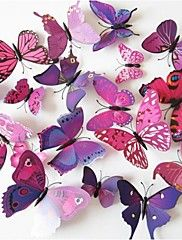 DIY 3D PVC Wall Sticker Butterfly 12 Pieces/Set – DKK kr. 68