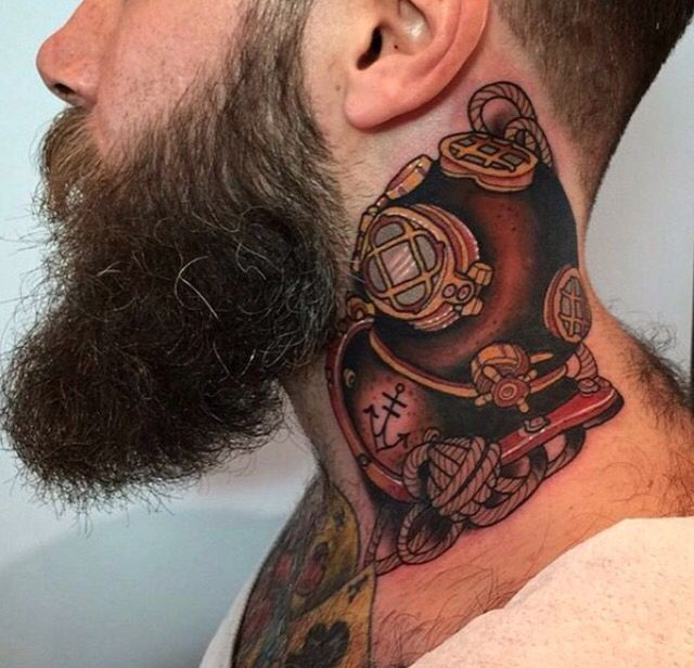 118 best images about throat tattoos on pinterest owl for Barber neck tattoos