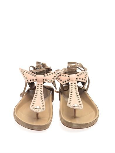 ISABEL MARANT, Edris studded suede sandals MATCHESFASHION.COM #MATCHESFASHION