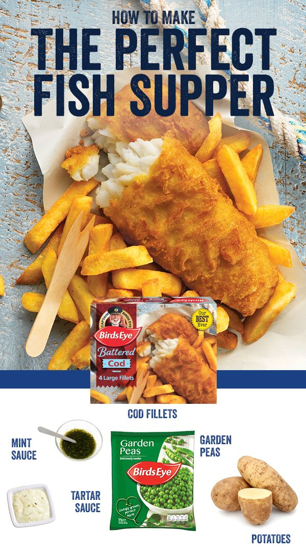 The smell of Birds Eye cod fillets - now with our best ever batter - are sure to rekindle old childhood memories. Add hand-cut chips and homemade mushy peas - made with Birds Eye's deliciously sweet garden peas - and you're all set for the perfect #FishFriday.
