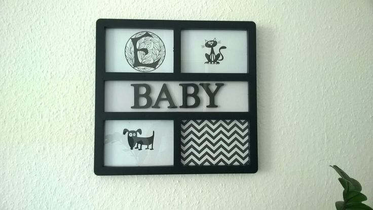 Baby nursery black and white wall art