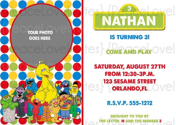 Sesame street invite