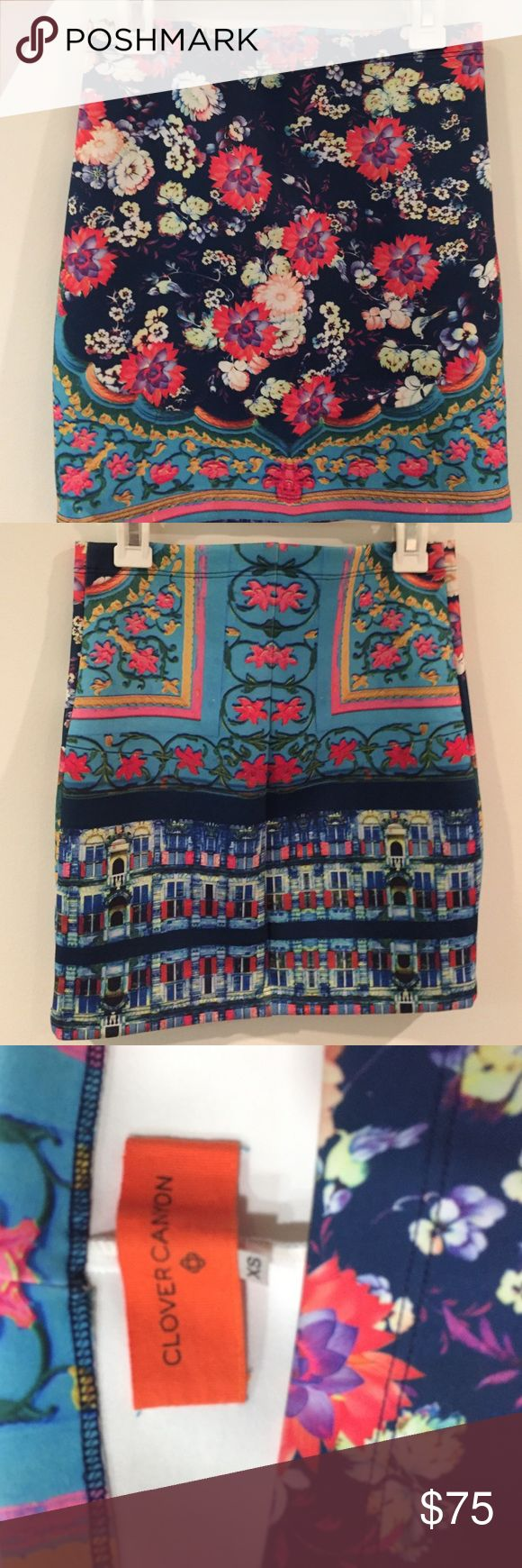 Stunning Clover Canyon skirt One of a kind from their SS15 collection Clover Canyon Skirts Mini