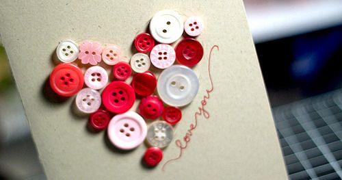 KWernerDesignBlog: MACM - Button Heart Valentine's Day Card