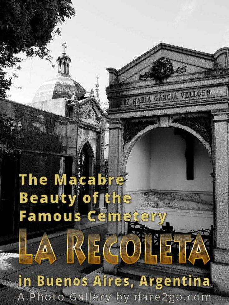 The opulence and macabre beauty of some of the incredible mausoleums make La Recoleta Cemetery a tourist attraction in Buenos Aires (b+w photo gallery).