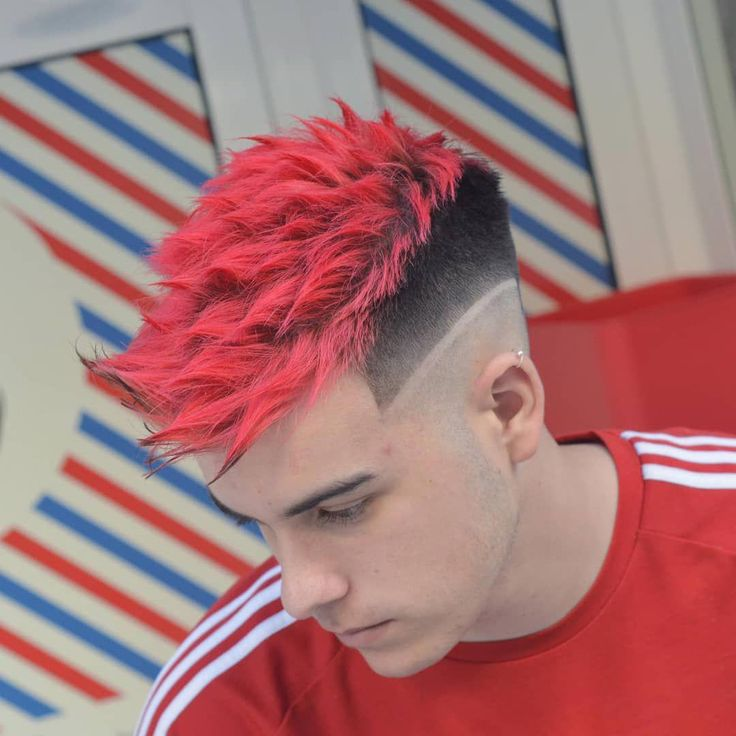 Excellent short hairstyles for men in 2020 dyed hair men