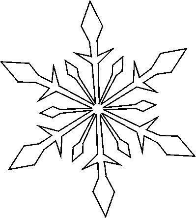 Printable Snowflake Template | Snowflake Stencils -- Free Christmas Snowflake Stencils to Print and ...