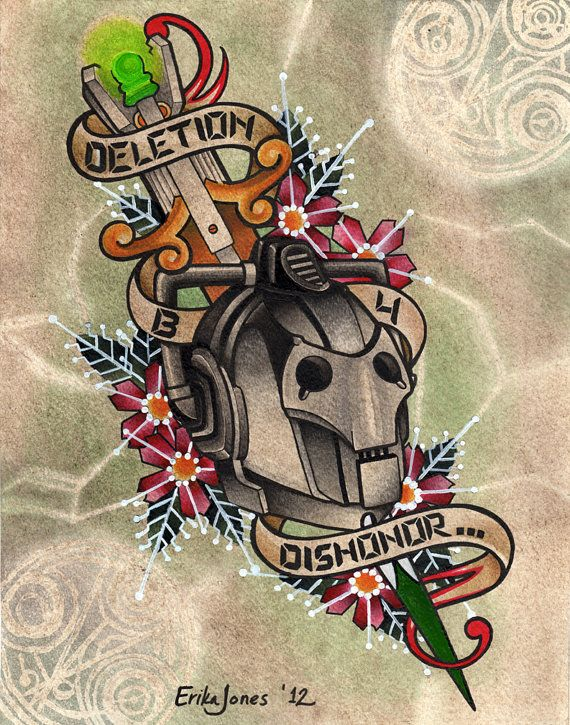 Cyberman Deletion before Dishonor print by PeppermintTattyArt, $20.00