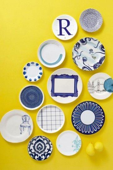 Decorazioni per le pareti di casa - Parete decorata piatti