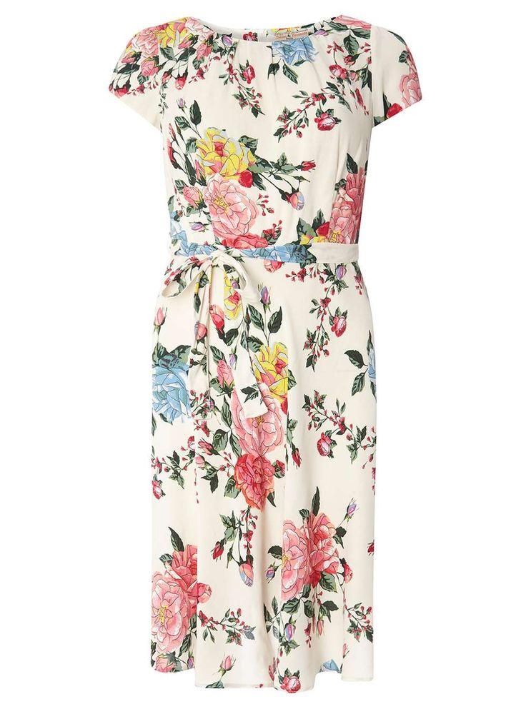 **Billie & Blossom Petite Multi Coloured Floral Print Dress - Swing Dresses - Dresses - Dorothy Perkins