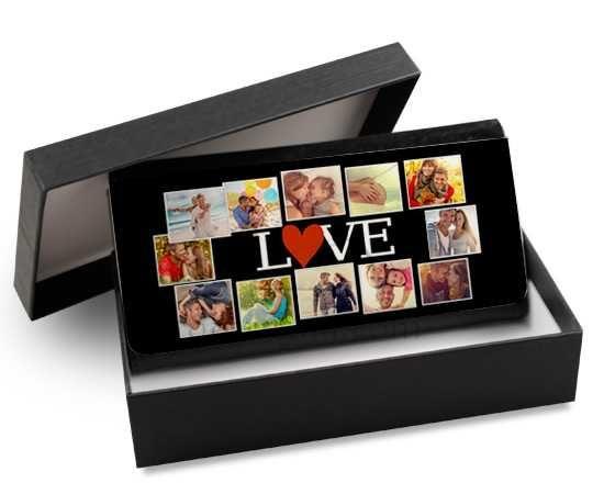 Portafoglio donna in pelle colorato Lovely collage
