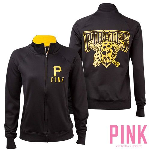 Pittsburgh Pirates Victoria's Secret PINK®  Track Jacket - MLB.com Shop  I need this for Buctober!