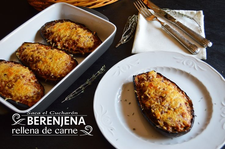 Berenjenas rellenas de carne carnes pinterest - Berenjena rellena de carne ...