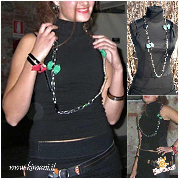 """Dalla sfilata del 2008: """"Fioc-Collana"""" con elementi placcati argento e dettagli di pelle e pietre dure. Scoprila qui: www.kimani.it/bijoux.php #KimaniDesign #MadeInItaly #handmadejewelry #jewelsmadeinitaly"""