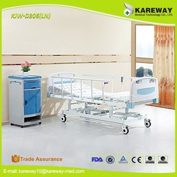 3 functions electric orthopedic hospital bed table with drawer