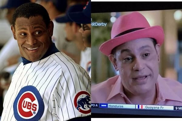 Once Brown-Skinned, Former Cubs Slugger Sammy Sosa Is So White He's Pink!