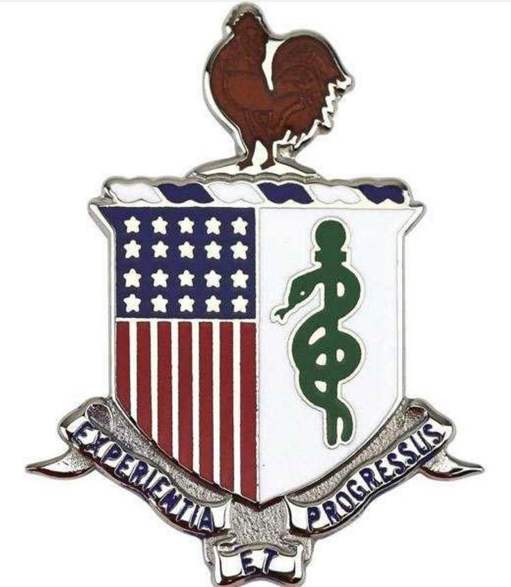 ARMY CORPS CREST: MEDICAL DEPARTMENT - EXPERIENTIA ET PROGRESSUS